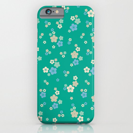 blossom ditsy in emerald iPhone & iPod Case