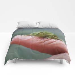 Chameleon cuteness personified Comforters
