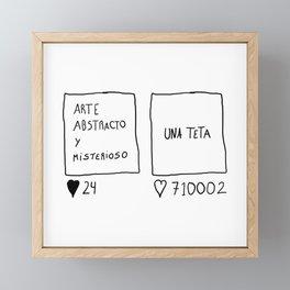 Serie Es La Verdá Framed Mini Art Print
