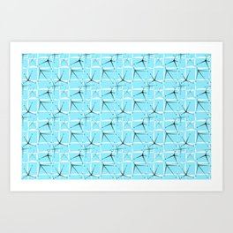 Fifties Starburst Art Print