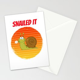 snail for people who land snaills and slugs  Stationery Cards