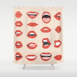 Lips III Shower Curtain