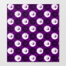 Sunflower black, white and purple Canvas Print