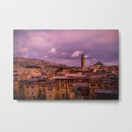 View of the Ancient City of Fes, Morocco. Travel Photography. Metal Print