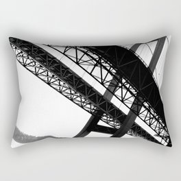 a bridge over troubled waters Rectangular Pillow