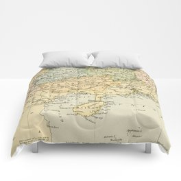 Vintage Map of The South Of China Comforters