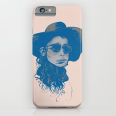 Woman in Hat and Sunglasses iPhone 6s Slim Case