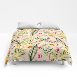 Pattern leaf and flowers II Comforters