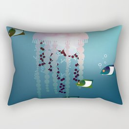 Jellyfish Olympics Rectangular Pillow