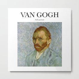 Van Gogh - Self Portrait Metal Print