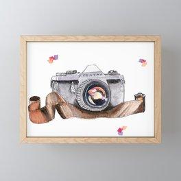 Vintage Camera Framed Mini Art Print