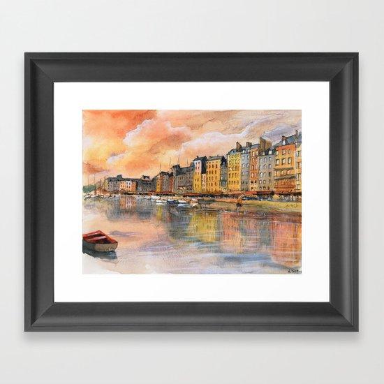 Sunset over Honfleur Framed Art Print