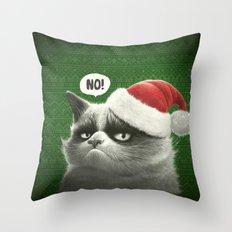 Grumpy Xmas Throw Pillow