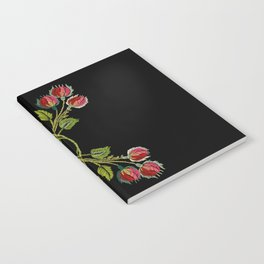 Embroidered Scandi Flowers Notebook