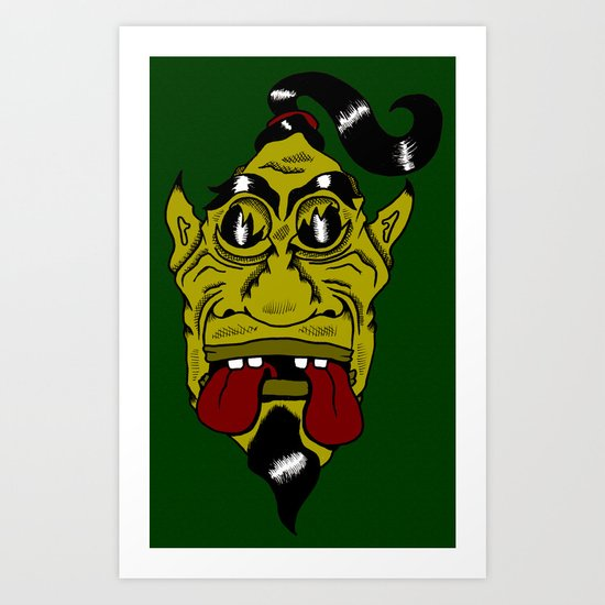 Chinese Demon, Shafted! Art Print
