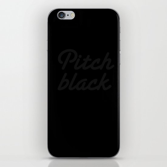 Pitch Black iPhone & iPod Skin