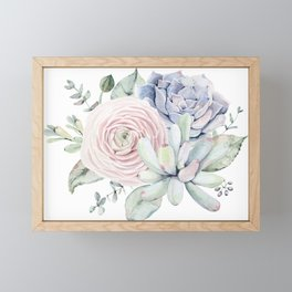 Succulent Blooms Framed Mini Art Print