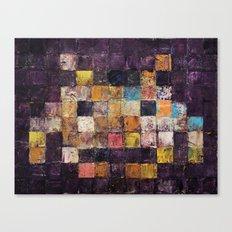 Purple Haze Invader Canvas Print