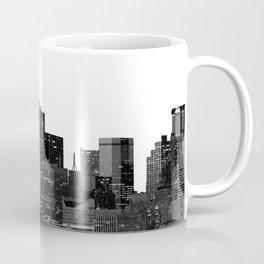 Dallas Texas Skyline in Black and White Coffee Mug