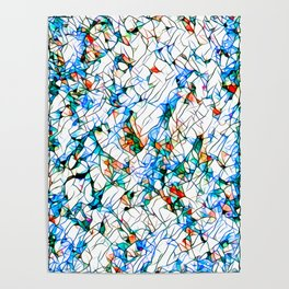 Glass stain mosaic 1 abstract - by Brian Vegas Poster