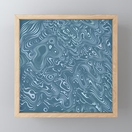 flowing lines Framed Mini Art Print