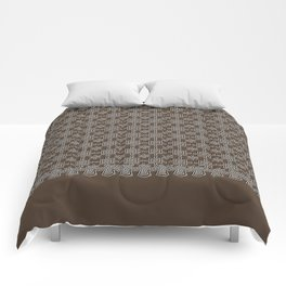 Rich Chocolate Color Crochet Square Lace Pattern Comforters