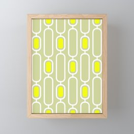 Lemon Shandy Retro 50s Geometric Pattern Framed Mini Art Print