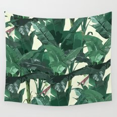 Banana Leaf Pattern 2 Wall Tapestry