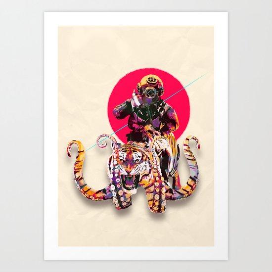 OCTOTIGER OF DOOM Art Print