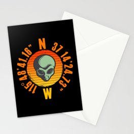 Alien Area 51 Geo Location Stationery Cards