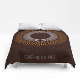 Concentric Disruption 2 Comforters