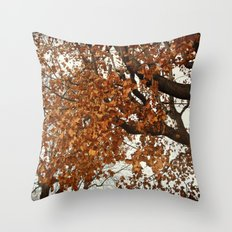 Colors Thriving As The Leaves Are Dying Throw Pillow