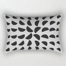 Half Moon Pattern Rectangular Pillow