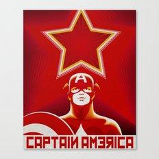 Soviet Art - Captain America Canvas Print