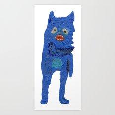 el monstro azul Art Print