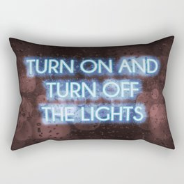 Neon - Turn on and off Rectangular Pillow