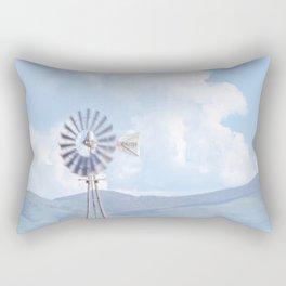 """""""Blue Windmill Blue Sky"""" by Murray Bolesta Rectangular Pillow"""