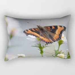 Butterfly By The Channel Rectangular Pillow