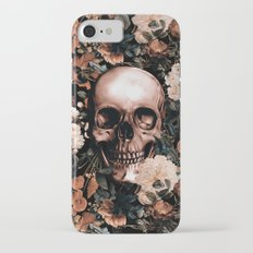 SKULL AND FLOWERS II Slim Case iPhone 7
