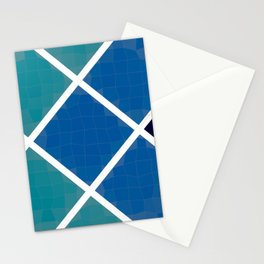 Green and blue squares Stationery Cards