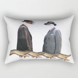Two Suspects Collage Rectangular Pillow