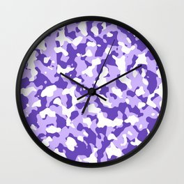 Camouflage Purple Wall Clock