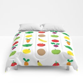 A Cute Concoction of Fruit and Vegetable. Vegan Heaven! Comforters