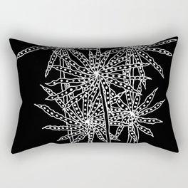 Spikey Petalled Flowers Negative Rectangular Pillow