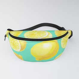 Watercolor lemons pattern Fanny Pack