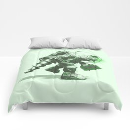 Daddy's Coming Home (Green) Comforters