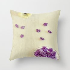 Violet sweets Throw Pillow