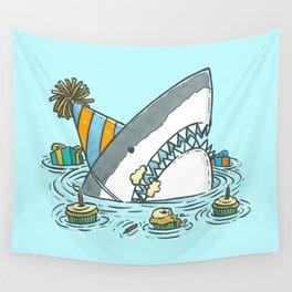 Birthday Shark II Wall Tapestry