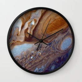 The Giant Red Spot on Planet Jupiter Wall Clock