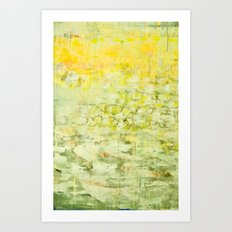 yellow greens Art Print